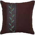 Gizeh Chocolate/ Aqua Vine Decorative Pillow