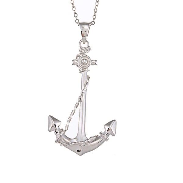 La Preciosa Sterling Silver Anchor Necklace