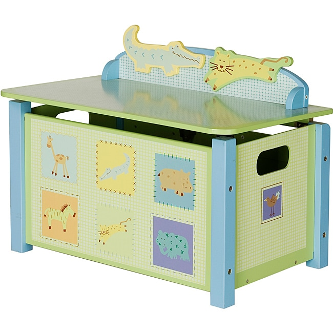 Children's Animal-Printed Toy Box