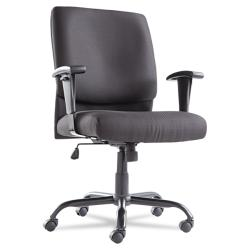 Black 'Big and Tall' Mid-Back Swivel/ Tilt Chair