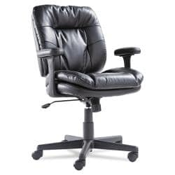 OIF Black Swivel/Tilt Leather Task Chair