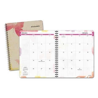 Day Runner Design Recycled Watercolors Monthly Planner (6.875 x 8.75)