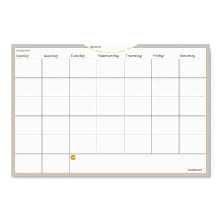 AT-A-GLANCE White Wallmates Self-adhesive Dry-erase Monthly Planning Surface