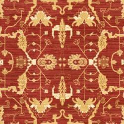 Safavieh Oushak Red/Cream Powerloomed Indoor Rug (9'6 x 13')