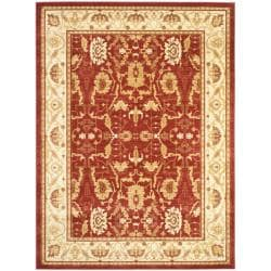 Oushak Red/Cream Powerloomed Indoor Rug (9'6 x 13')