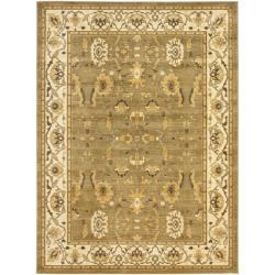 Safavieh Oushak Green/ Cream Powerloomed Rug (6'7 x 9'1)