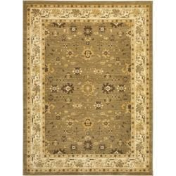 Oushak Green/ Cream Powerloomed Rug (9'6 x 13')