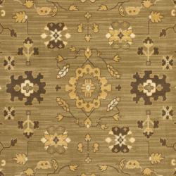 Safavieh Oushak Green/ Cream Powerloomed Rug (8' x 11')