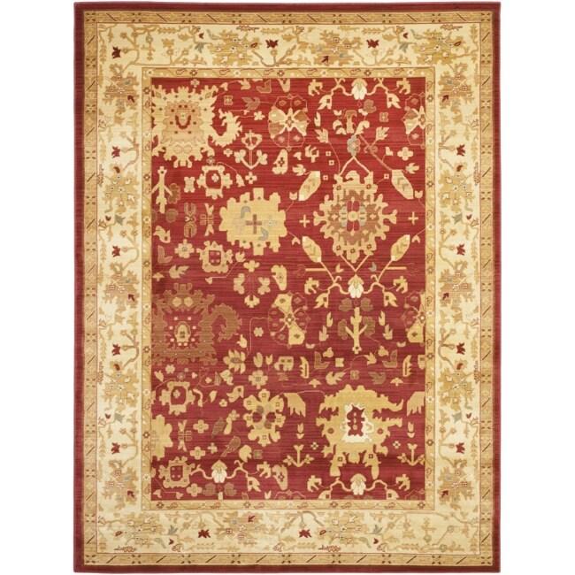 Safavieh Oushak Red/ Cream Powerloomed Rug (8' x 11')