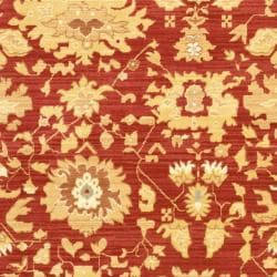 Oushak Red/ Gold Powerloomed Rug (9'6 x 13')