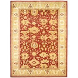 Oushak Red/ Gold Powerloomed Rug (6'7 x 9'1)