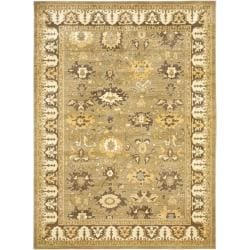 Oushak Green/ Brown Powerloomed Rug (9'6 x 13')