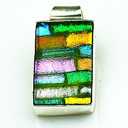 Sterling Silver Dichroic Glass Pendant (Mexico)