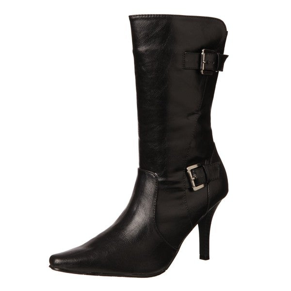CL by Laundry Women's 'Simile' Black Buckle Boots