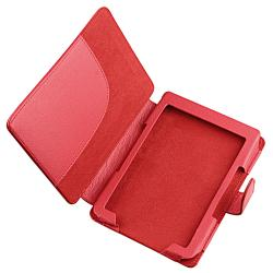 INSTEN Red Leather Case Cover/ Protector/ Headset/ Wrap for Amazon Kindle 5