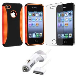 Hybrid Case/ Screen Protector/ Car Charger for Apple iPhone 4S