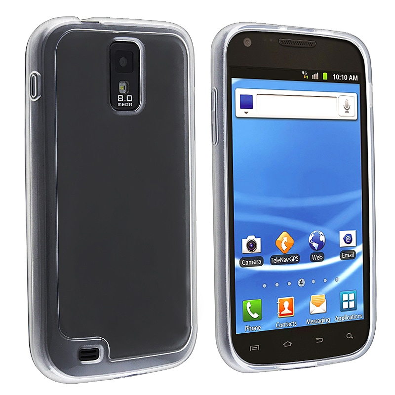 Clear with Trim TPU Skin Case for Samsung Galaxy S II T-Mobile T989