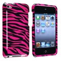 Hot Pink/ Black Zebra Snap-on Case for Apple iPod Touch 4th Generation