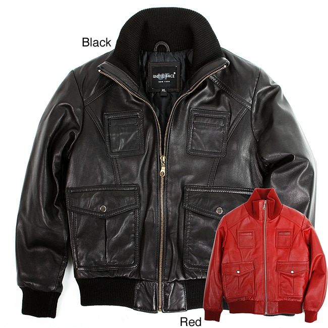 United Face Toddler Boy's Premium Lambskin Leather Jacket