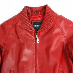 United Face Toddler Boy's Lambskin Leather Baseball Jacket