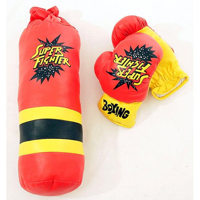 Defender Kid's 10oz. Gloves and Mini Punching Bag Boxing Set