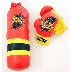 Defender Kid's 10oz. Gloves and Mini Punching Bag Boxing Set