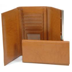 Dasein Classic Faux Leather Fold-over Checkbook Wallet