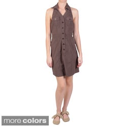 Ci Sono by Journee Junior's Snap Button Collared Twill Halter Jumper