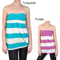 Ci Sono by Journee Junior's Sleeveless Empire Waist Striped Top