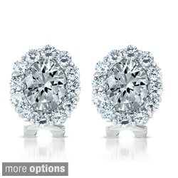 Collette Z Sterling Silver Cubic Zirconia Celebrity-inspired Stud Earrings