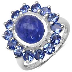 Malaika Sterling Silver Tanzanite Ring (5ct TGW)