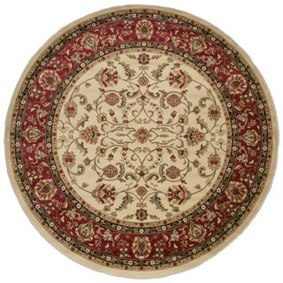 Classic Keshan Antique Area Rug (7'10 Round)