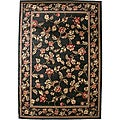 Transitional Floral Halle Black Area Rug (7'10 x 9'10)