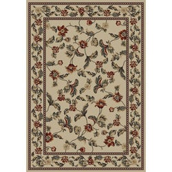 Transitional Floral Halle Antique Ivory Area Rug (7'10 x 9'10)