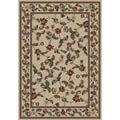Halle Antique Ivory Floral Olefin Area Rug (7'10 x 9'10)