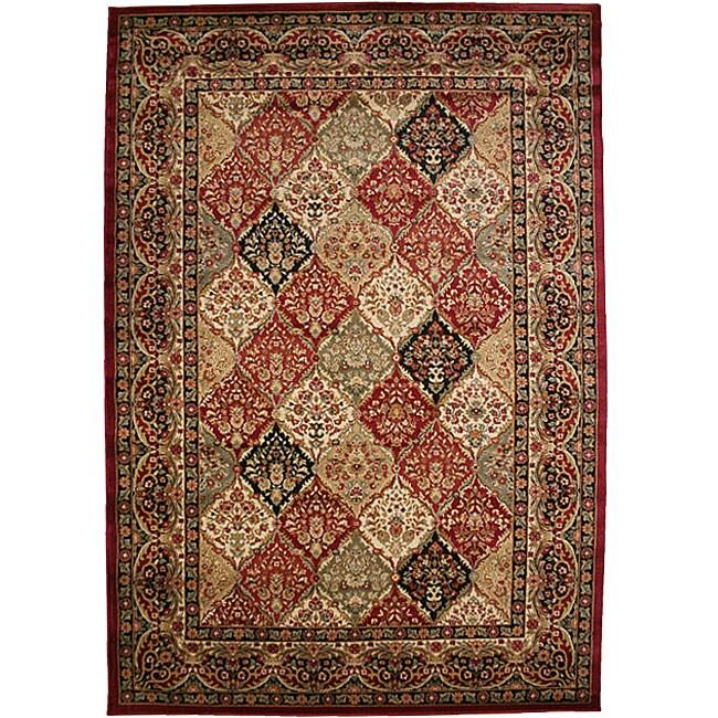 Traditional Panel Kerman Multicolor Area Rug (7'10 x 9'10)