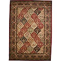 Panel Kerman Claret Red Area Rug (5'3 x 7'7)