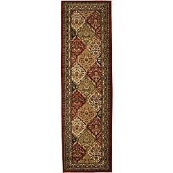 Traditional Panel Kerman Multicolor Runner (2'3 x 7'7)
