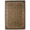 Traditional Oriental Keshan Sage Multicolor Area Rug (7'10 x 9'10)