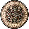 Traditional Oriental Keshan Ebony Area Rug (7'10 Round)