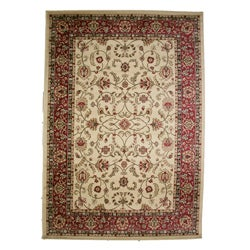 Classic Keshan Antique Ivory Area Rug (7'10 x 9'10)