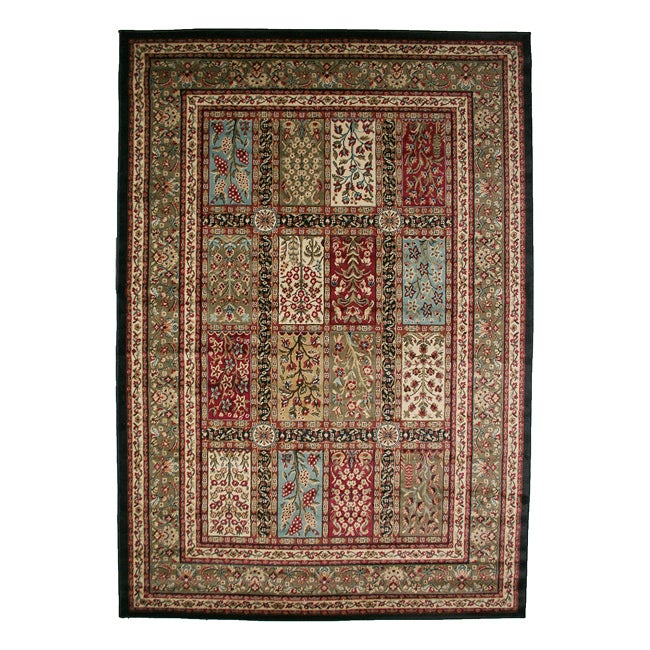 traditional panel multicolor area rug 7 10 x 9 10 overstock shopping great deals on