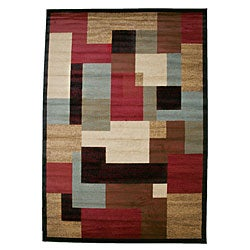 Contemporary Geometric Regency Multicolor Area Rug (7'10 x 9'10)