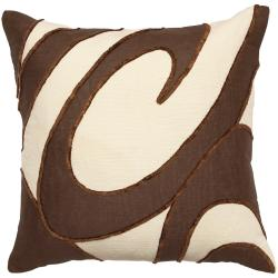 Bouy Chocolate/ Cream Decorative Pillow