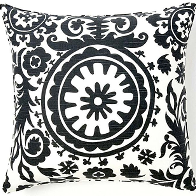 24 x 24-inch Africa Suzani Decorative Down Pillow