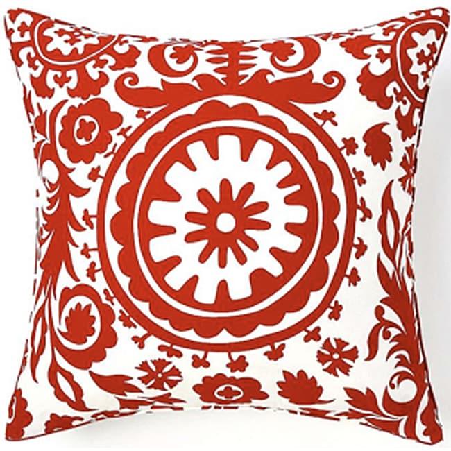 24 x 24-inch Red Siggi Suzani Decorative Pillow