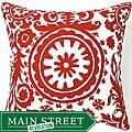 24 x 24-inch Red Siggi Suzani Decorative Pillow