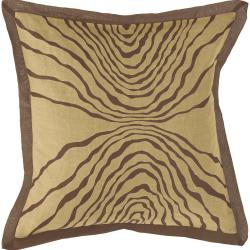 Antrim Taupe/ Brown Down Filled Throw Pillow