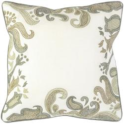 Andover Beige Floral Down Decorative Pillow