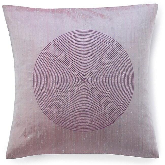 Spiral Berry Silk Decorative Pillow